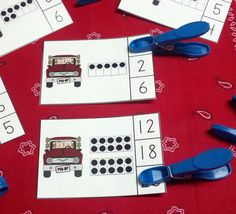 Farm Trucks and Tractors Count and Clip Cards (Quantities to 20) $ #farm #trucks #tractors #kampkindergarten #clipcards  https://www.teacherspayteachers.com/Product/Farm-Trucks-and-Tractors-Count-and-Clip-Cards-Quantities-to-20-1630327