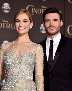 Lily James and Richard Madden - 'Cinderella' LA Premiere