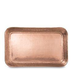 Gava Copper Plated Rectangular Tray by Citta Design | Citta Design