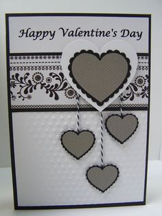 Masculine Valentine's Day Card - original design by Diane Varrichiane.  Use coupon code PIN12 to save 12% now!