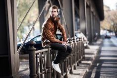 City style: André Hamann photographed on the streets of Berlin. Read more about André's highlights while in Germany's capital