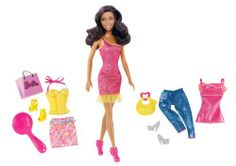 Barbie Nikki Doll and Fashion Set by Mattel. $26.99. For girls who love beautiful boutique fashions. Comes with three complete outfits and accessories. Includes a Nikki doll and tons of fun accessories. Accessories feature 2 handbags, 3 sets of shoes and a doll-size brush. Mix and match fashions from head to toe, just like coming home from a shopping spree. From the Manufacturer                Barbie Nikki Doll and Fashion Set: Nikki doll loves shopping at beautiful bou...