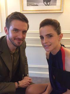 "ewatsondaily: ""Emma Watson and Dan Stevens in an interview for Cinenews in Paris (02/20/17) """