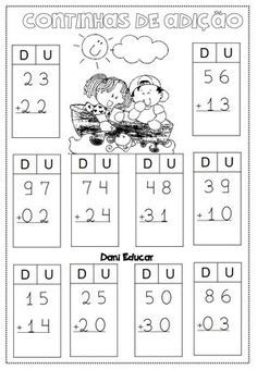 atividades-de-matematica-continhas-de-adicao-2 — Só Escola Dinosaur Songs For Kids, Kids Songs, Math For Kids, Fun Math, Preschool Math, Math Activities, Basic Math Worksheets, Board Game Template, Thanksgiving Writing