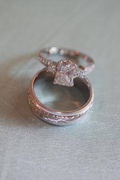 Beautiful emerald cut engagement ring {Photo by Joanna Tano via Project Wedding}