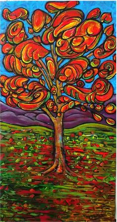 ARTFINDER: In an Autumn mood by DASMANG    (Gary Aitken ) - The colour this Autumn in Southern Ontario has been breathtaking to behold . #art #tree #painting #landscape #colorful