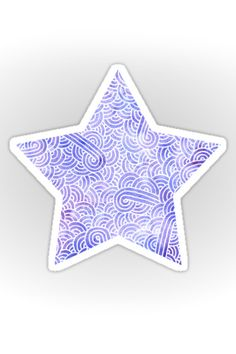 """Serenity blue and white zentangles"" Sticker by Savousepate on Redbubble…"