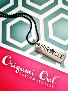 Origami Owl Miracle necklace.  Tagged. Visit www.facebook.com/jenshortorigamiowl
