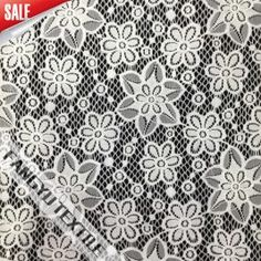 Popular Design of Flower Lace Fabric