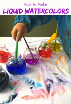 Fun way to make liquid water colors!