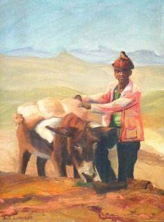 Basotho man and his donkey