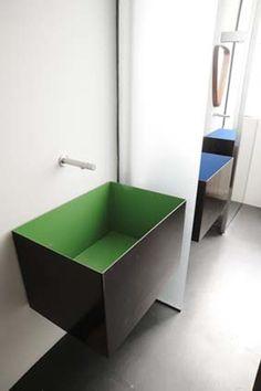 *bathroom design, sink, minimal* - architetti berselli cassina associati