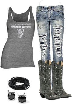 Love love love these jeans cute country outfits, country wear, western outfits, cowgirl Country Style Outfits, Country Girl Style, Country Fashion, My Style, Cowgirl Outfits, Cowgirl Style, Western Outfits, Western Wear, Cowgirl Clothing