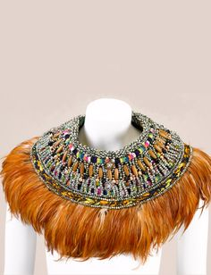Edra Feather Neck Piece- Anita Quansah London/Nigeria $2,275.00