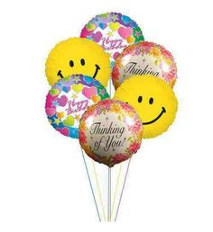 Happy Birthday Balloons Bouquet With Smiley Send Online