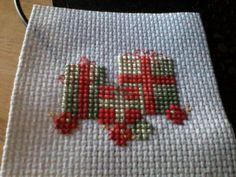 CHRISTMAS CROSS STITCH FINISHED PIECE