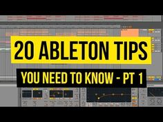 This Ableton tutorial will show you 20 tips you need to know to master Ableton Live. Learn tons of new tricks and step up your production instantly! Digital Audio Workstation, Ableton Live, Home Studio Music, Music School, Music Theory, Recording Studio, Music Industry, New Tricks, Electronic Music