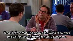 The big bang theory Leonard and Sheldon The Big Theory, Big Bang Theory Funny, Which Character Are You, Geek Movies, Nerd Love, Tv Times, Seinfeld, Bad Mood, Funny People
