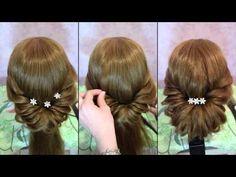 Быстрая и легкая прическа на длинные волосы - YouTube