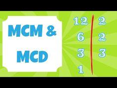 Mínimo Común Múltiplo y Máximo Común Divisor (mcm y MCD)   LUMYA - YouTube