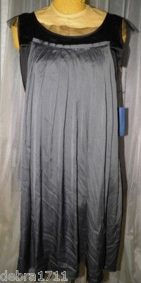 Simply VERA WANG NWT Deep Pewter Black polyester spandex sleeveless dress sz 12