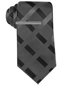Alfani Tie, Jones Grid - Mens Ties - Macy's