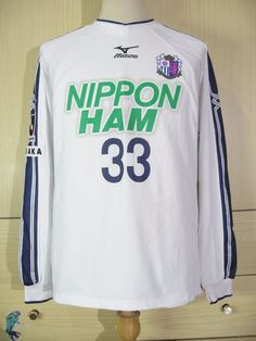 a556a87efcc0 Cerezo Osaka Mizuno 2002 Home Player Longsleeved Football Jersey Soccer  Shirt