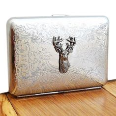 deer stag silver cigarette case or card case by wild life designs | notonthehighstreet.com