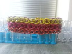 Love these autumn colors! Olive Green Magenta Caramel and Brown All by RainbowLoomLover, $3.75