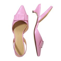 Leather Sling Back Heel by Joe Fresh. Looks cute; I wonder how comfortable it is. Might have to give this a try.