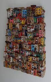 Eric Cremers - Mumbai (With images) Cardboard Sculpture, Cardboard Crafts, Karton Design, Sculptures Céramiques, Book Sculpture, Driftwood Crafts, Unusual Art, Collaborative Art, Assemblage Art