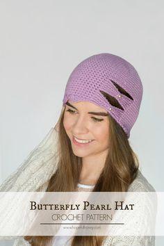 2c2adf2a676 Butterfly Scallop Hat - Free Crochet Pattern