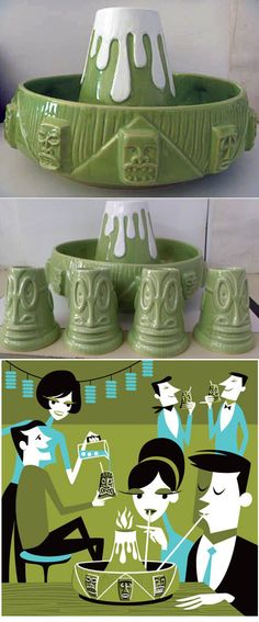 M Modern Gallery features a number of Lowbrow/Pop Surrealist Artists Works including Josh Agle (aka Shag). M Modern is also the parent company for . Vintage Tiki, Vintage Hawaii, Vintage Bar, Tiki Art, Tiki Tiki, Tiki Maske, Tiki Decor, Outdoor Decor, Hawaiian Tiki