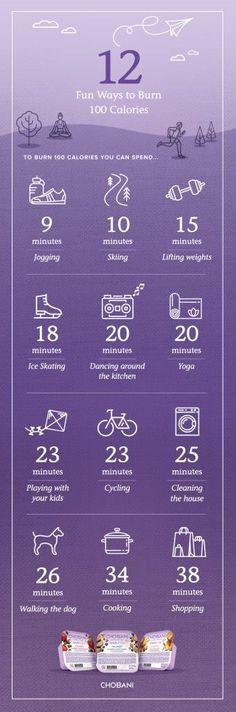 12 Fun Ways to Burn 100 Calories #simply100 #sp