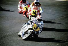 500cc (pre MotoGP) Doohan leads Schwantz and Rainey - 3 of the best.