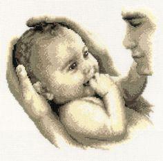 Fathers Cuddle Cross Stitch Kit £31.00 | Past Impressions | Vervaco