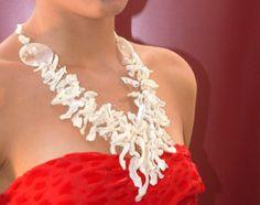 Caribe, collana 4 fili madreperla, argento rodiato
