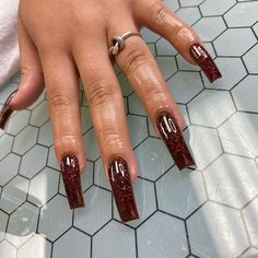 Aycrlic Nails, Hair And Nails, Stiletto Nails, Perfect Nails, Gorgeous Nails, Garra, Best Acrylic Nails, Brown Acrylic Nails, Brown Nails