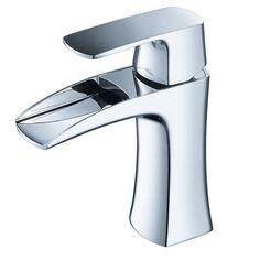 Fresca Fortore Single Hole Mount Bathroom Vanity Faucet Chrome