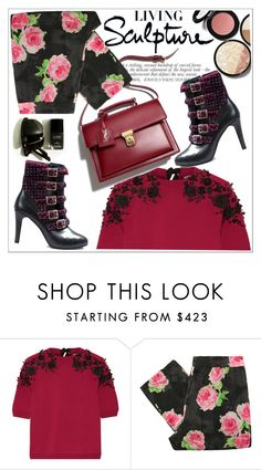 """Ana Popovic shoes"" by teoecar ❤ liked on Polyvore featuring Oscar de la Renta, Moschino Cheap & Chic and Smashbox"