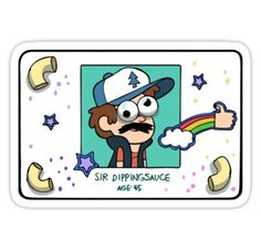 Gravity Falls stickers featuring millions of original designs created by independent artists. Stickers Cool, Bubble Stickers, Meme Stickers, Snapchat Stickers, Printable Stickers, Laptop Stickers, Gravity Falls Personajes, Homemade Stickers, Cartoon Profile Pictures