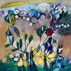 "Diane Culhane Glow 12""x12"" acrylics on canvas www.dianeculhaneart.com"