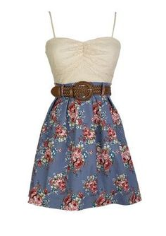 It's a cute little dress that you could just ware or on a date or to school