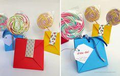 origami - bolsitas plegadas en papel para el día del niño