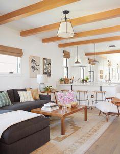 Interior designer Rosan Beltran takes us through the complete renovation of her 1936 Craftsman bungalow in Los Angeles. Bungalow Interiors, Interior, Home, Clad Home, House Interior, European White Oak Floors, Bungalow Renovation, Cottage Living Rooms, Interior Design
