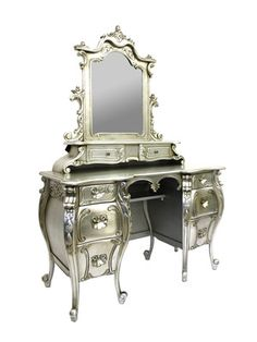 Rococo French Dressing Table* I want this for my someday dressing room/ closet<3