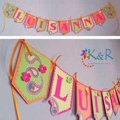 Feliz inicio de semana para tod@s... En esta foto les mostramos los banderines fluorescentes que hicimos para el cumpleaños de Luisanna. Muy coloridos, verdad?   #banderines #fluorescente #felizcumpleaños #colores #coloresvivos #eltigre #Lecheria #hechoamano