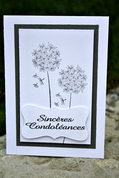 Carte de condoléances : Cartes par lady-coccinelle-creations                                                                                                                                                                                 Plus