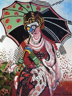 """""""Caméléon"""" Peinture de l'artiste Francis Picabia (1879 - 1953)"""