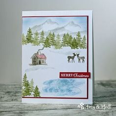 Freshly Made Sketches - A Sketch by Jen T Stampin Up Christmas, Christmas Crafts, Christmas 2019, Winter Christmas, Winter Cards, Holiday Cards, Xmas Cards, Create Your Own Card, Flora